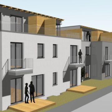 Mehrfamilienhaus mit ganz unterschiedlichen Grundrissen der Wohnungen von Architekt Oliver Schilling