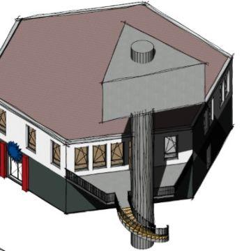 Anbau an einen Werbepylon von Architekt Oliver Schilling