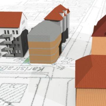 Bild von der Schattenberechnung eines Wohnhauses