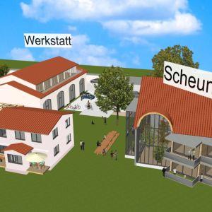 Blick von oben auf die Ferienwohnanlage (CAD Animation) von Oliver Schilling