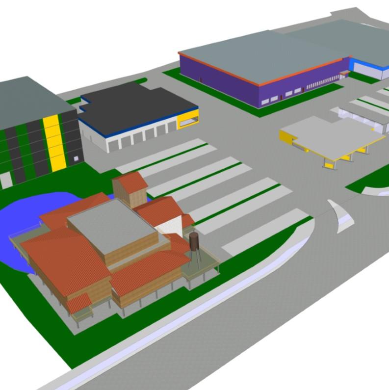 Blick auf das Espitas Restaurant als CAD Animation von Architekt Oliver Schilling