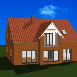 Blick auf das Friesenhaus als CAD Animation von Architekt Oliver Schilling
