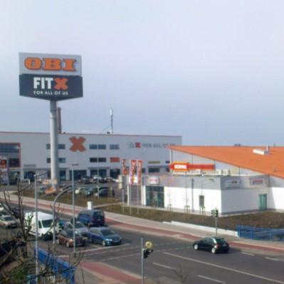 Foto des Fachmarktzentrum OBI Brenneckestraße in Magdeburg von Architekt Oliver Schilling